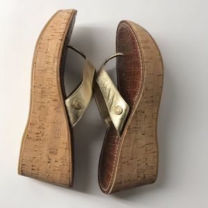892e7b91de9e2 Sam Edelman Shoes - Sam Edelman Romy gold wedge sandals slippers